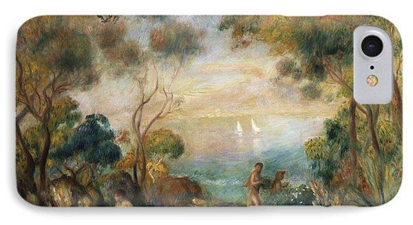 A Garden In Sorrento IPhone 7 Case by Pierre Auguste Renoir