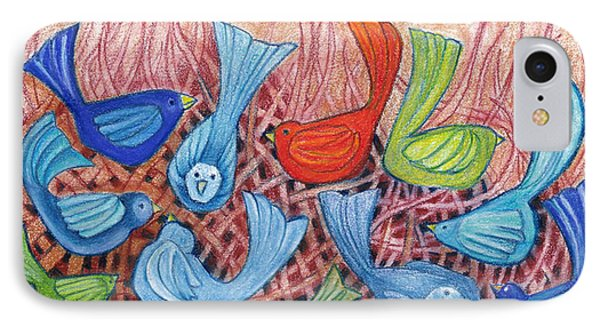 A Gathering Of Friends Phone Case by Linda Kay Thomas