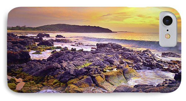 IPhone Case featuring the photograph A Gentle Wave At Sunset by Tara Turner