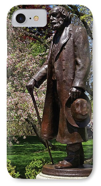 A Gentleman Walking The Public Garden On A Beautiful Spring Day Boston Ma Edward Everett Hale IPhone Case by Toby McGuire