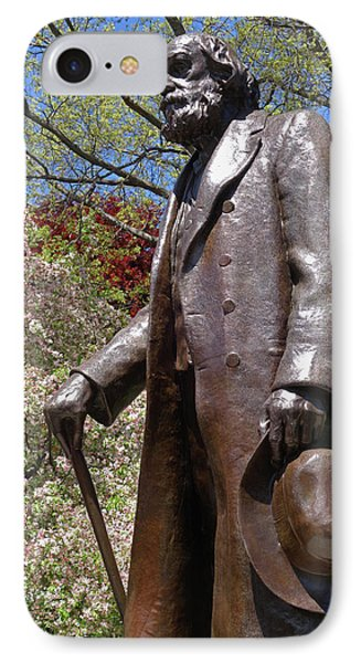 A Gentleman Walking The Public Garden On A Beautiful Spring Day Boston Ma IPhone Case by Toby McGuire