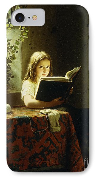 A Girl Reading IPhone 7 Case