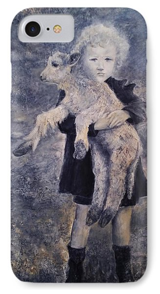A Girl With A Lamb IPhone Case