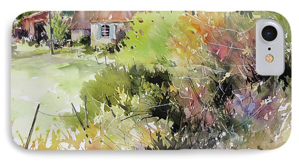 A Glimpse Beyond The Brambles, France.. Phone Case by Rae Andrews