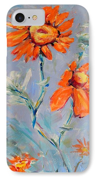 IPhone Case featuring the painting A Glow by Mary Schiros