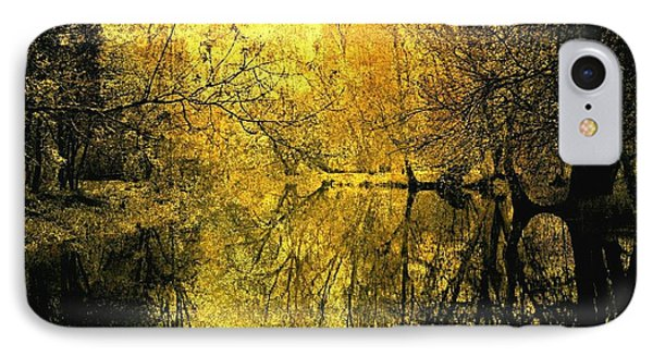 A Golden Tribute To Collins Creek IPhone Case by Jim Vance