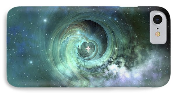A Gorgeous Nebula In Outer Space IPhone Case by Corey Ford