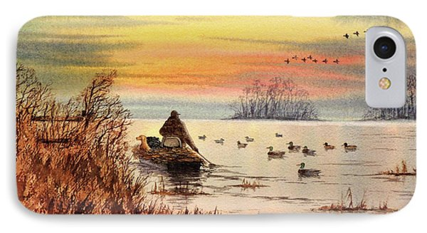 IPhone Case featuring the painting A Great Day For Duck Hunting by Bill Holkham