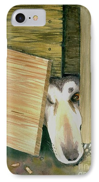IPhone Case featuring the painting A Great Escape  -variation 2 by Yoshiko Mishina