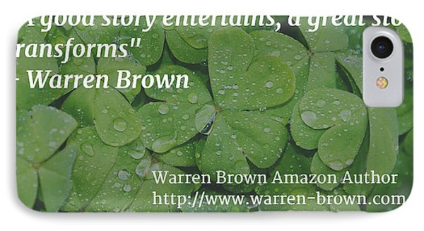 A Great Story Phone Case by Warren Brown