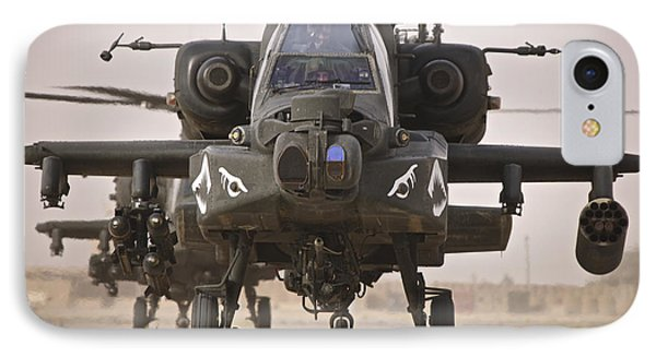 A Group Of Ah-64d Apache Helicopters IPhone Case by Terry Moore