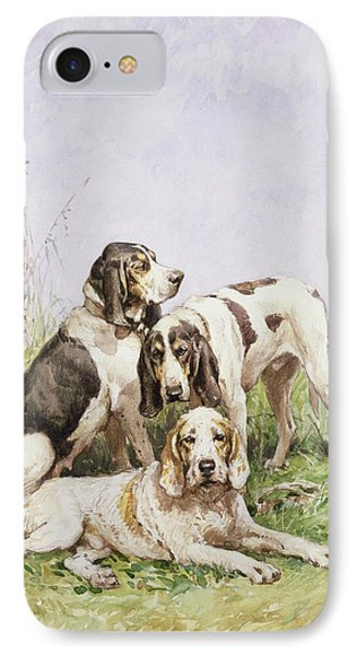 A Group Of French Hounds Phone Case by Charles Oliver de Penne