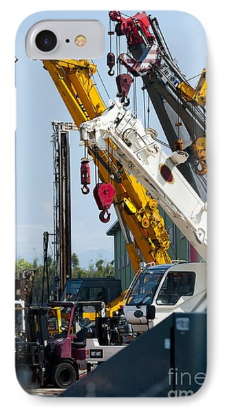 A Group Of Mobile Cranes. Hooks IPhone Case