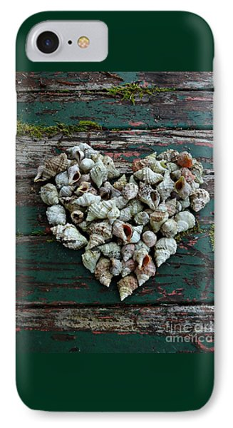 A Heart Made Of Shells IPhone Case by Patricia Strand