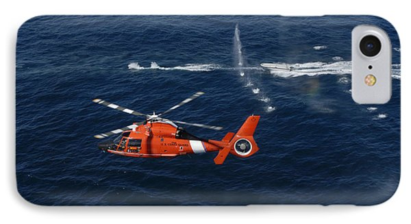 A Helicopter Crew Trains Off The Coast Phone Case by Stocktrek Images