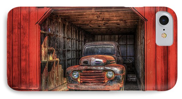 A Hiding Place 1949 Ford Pickup Truck IPhone Case by Reid Callaway