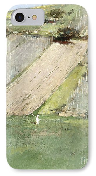 A Hillside, Giverny, 1887  IPhone Case by Theodore Robinson