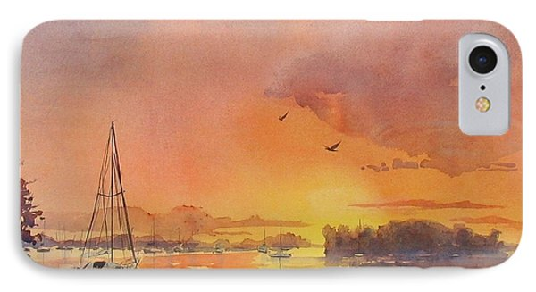 A Hingham Sunset Phone Case by Laura Lee Zanghetti
