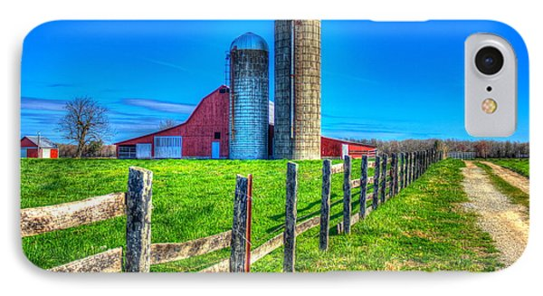A Hole In The Fence Tennessee Farm Art IPhone Case by Reid Callaway