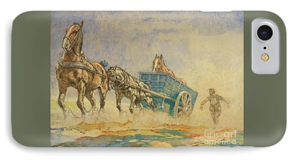 A Horse Ambulance In World War One IPhone Case