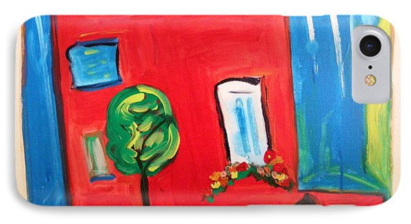 IPhone Case featuring the painting A House With A Smile To Give by Mary Carol Williams