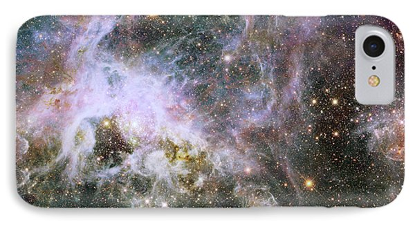 IPhone Case featuring the photograph A Hubble Infrared View Of The Tarantula Nebula by Nasa