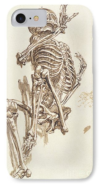 A Human Skeleton IPhone Case by James Ward