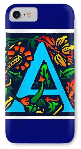 A In Blue Phone Case by Kathleen Sepulveda