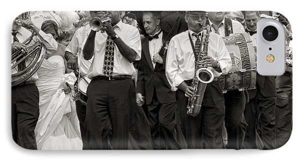 A Jazz Wedding In New Orleans IPhone Case by Kathleen K Parker