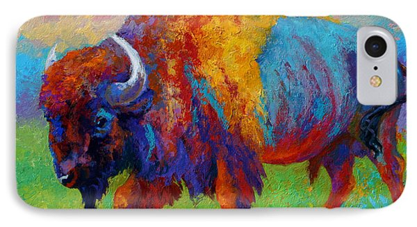 A Journey Still Unknown - Bison IPhone Case by Marion Rose