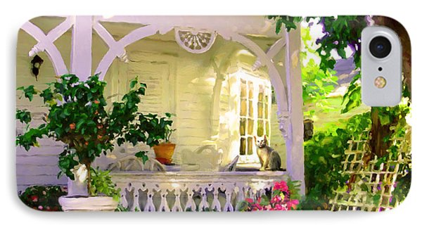 A Key West Porch IPhone Case by David  Van Hulst