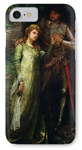 A Knight And His Lady Phone Case by William G Mackenzie