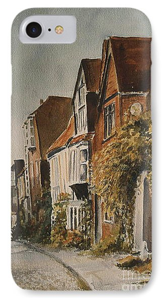 IPhone Case featuring the painting A Lane In Rye by Beatrice Cloake