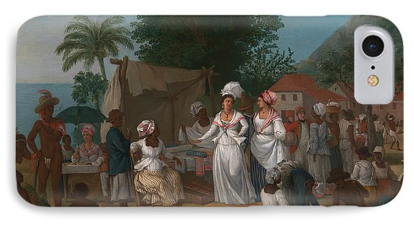 A Linen Market With A Linen-stall And Vegetable Seller In The West Indies IPhone Case