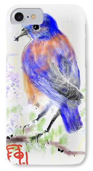 A Little Bird In Blue IPhone Case
