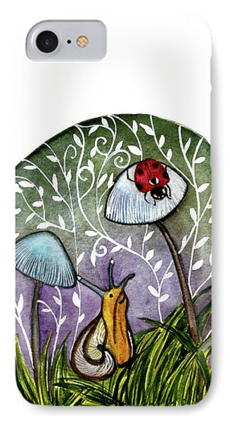 A Little Chat-ladybug And Snail Phone Case by Garima Srivastava