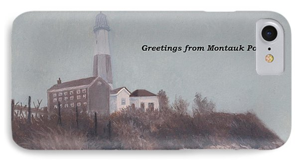 A Little Fog On Montauk Point Lighthouse IPhone Case