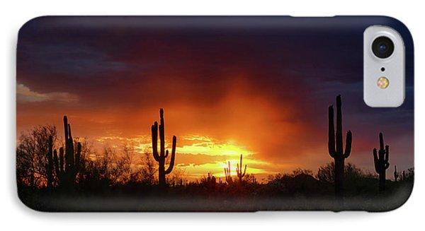 A Little Red Rain At Sunset  IPhone Case by Saija Lehtonen