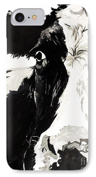 IPhone Case featuring the painting A Little Shy by Tom Riggs