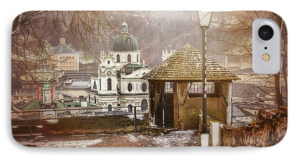 A Little Snow In Salzburg  IPhone Case by Carol Japp