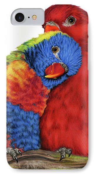 Parakeet iPhone 7 Case - Love Will Keep Us Together by Sarah Batalka