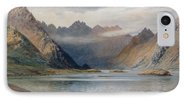 A Loch North Of Hadrian's Wall IPhone Case by Walter Severn