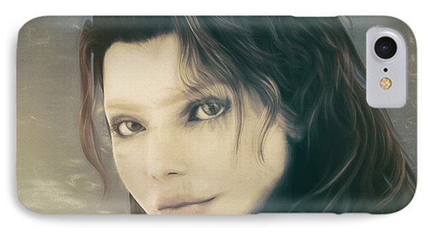 IPhone Case featuring the mixed media A Look Back by Jutta Maria Pusl