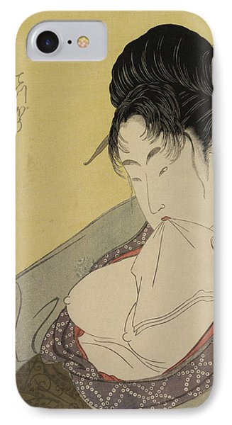A Low Class Prostitute IPhone Case by Kitagawa Utamaro