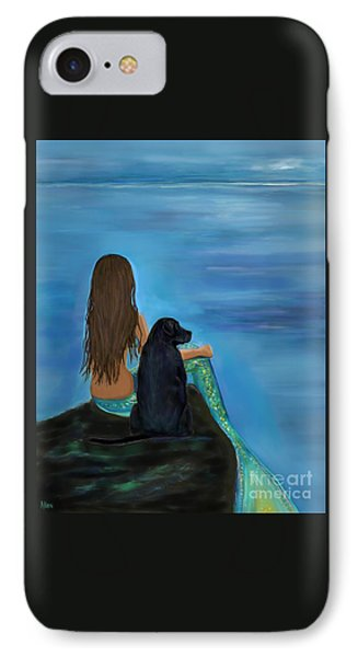 IPhone Case featuring the painting A Loyal Buddy by Leslie Allen
