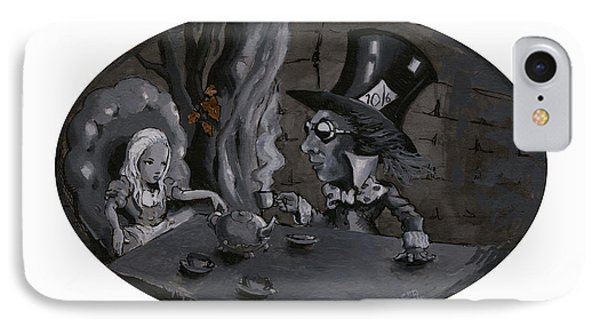 A Mad Tea Party IPhone Case by Luis  Navarro