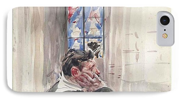 A Man Seated In A Church IPhone Case by Giovanni Boldini