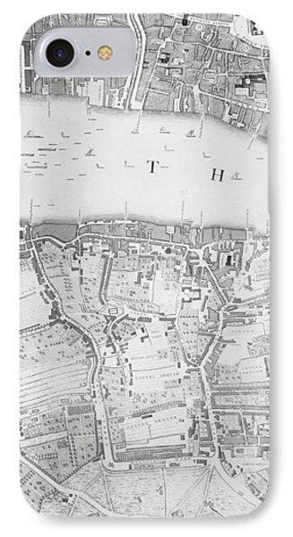 A Map Of St Pauls And Bankside IPhone Case by John Rocque