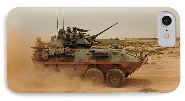 A Marine Corps Light Armored Vehicle Phone Case by Stocktrek Images