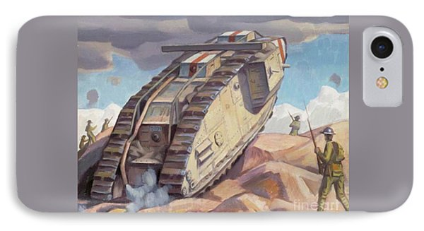A Mark V Tank Going Into Action, Wwi IPhone Case by Bernard Adeney